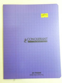 CAHIER PIQUE 17x22 32P VIOLET 90G SEYES POLYPRO