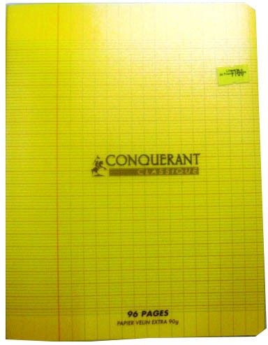CAHIER PIQUE 24*32. 48PAGES POLYPROPYLENE JAUNE 90GRS SEYES