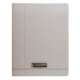 CAHIER PIQUE 17*22 GRIS 48P SEYES 90G 8000 POLYPRO