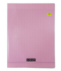 CAHIER PIQUE 24*32 ROSE 96P SEYES 8000 POLYPRO
