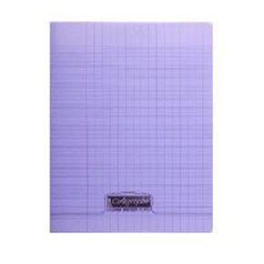 CAHIER PIQUE 17x22 VIOLET 48P SEYES 8000 POLYPRO
