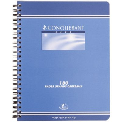 CAHIER SPIRALE 17x22 180PAGES 70GRS SEYES