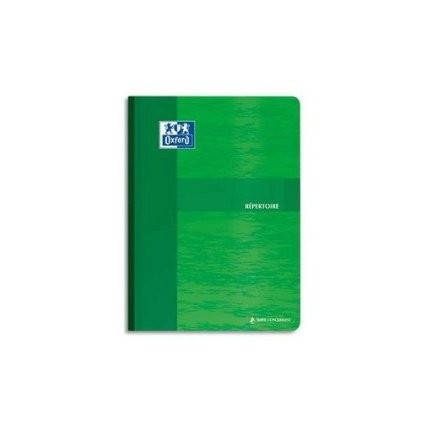 CARNET REPERTOIRE BROCHE 17x22 19x2 PAGES Q5x5   90GRS    9649C