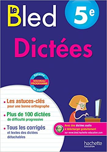 CAHIERS BLED DICTEES 5E