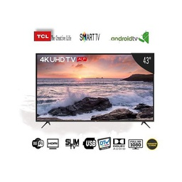"[TCL-TV43S] Télévision TCL Smart TV 43"" - Slim - DTV - Dolby Audio - EPG - Port HDMI - USB"
