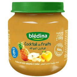 [BLEDINA-COCK FRUI/130G] Cocktail de fruit Bébé bledina pot de 130g