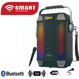 [STH-225] Speaker Rechargeable Smart Technology avec haut-parleur-STH-225 - USB - Radio FM