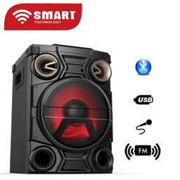 [STHP-782M] Système Audio SMART TECHNOLOGY Avec Haut-parleur Multimédia - STHP-782M - Radio FM - USB - Carte SD - MP3 - Noir