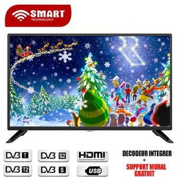 [32STT-9032S] Télévision 32''LED Smart Technology, HD, SMART TV/Décodeur Intègre