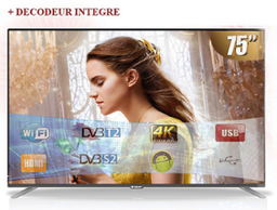 [75STT-9075S] Télévision 75'' DLED Smart TV, FHD LED TV + WIFI Smart Technology